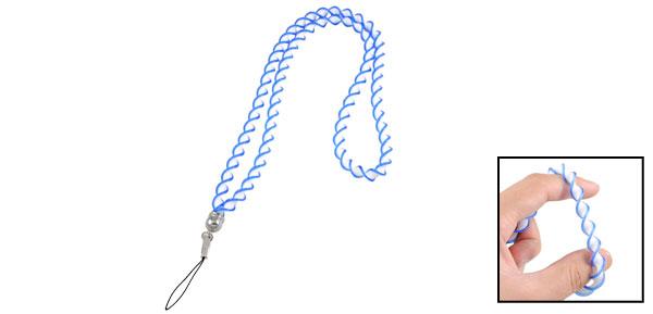 Phone Decor Blue White Plastic Cellphone Twisted Neck Strap Lanyard