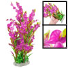 "15.7"" Height Fuchsia Green Plastic Flower Decor Water Plants Fish..."