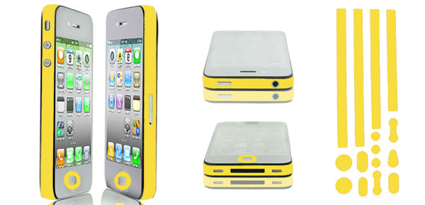 Yellow Bumper Side Edge Skin Decal Sticker for Apple iPhone 5 5G 5TH