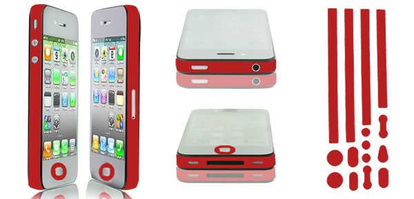 Red Bumper Side Edge Skin Decal Sticker for Apple iPhone 5 5G 5TH
