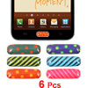 6 in 1 Dotted Pattern Home Button Sticker for Samsung Galaxy SII S2 i9220