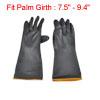 Pair Chemical Industry Anti Acid Alkali Black Working Gloves 13.4...