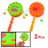 Babies Green Orange Plastic Nonslip Handle Rattle Drum Playing To...