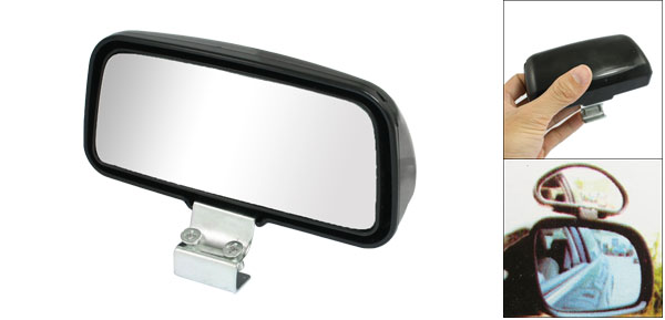 Black Plastic Shell Wide Angle View Blind Spot Mirror for Auto Car