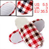 Ladies Red Light Coffee Color Backless Slip-in Indoor Slipper Us ...