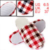 Ladies Red White Check Pattern Fashion Backless Indoor Slipper Us...