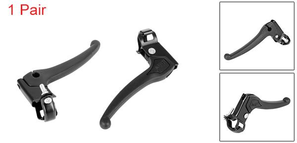 Black Plastic Grip Metal Bike Cycling Speed Control Brake Levers Pair