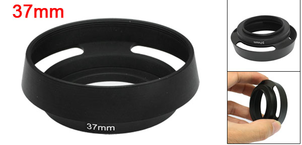 Black Screw Mount 37mm Metal Hood Lens