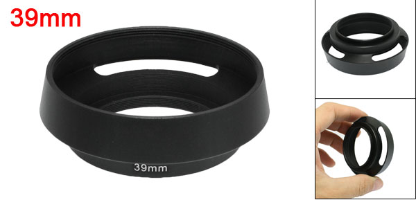 Black Screw Mount 39mm Metal Hood for Leica Summicron Elmar Lens