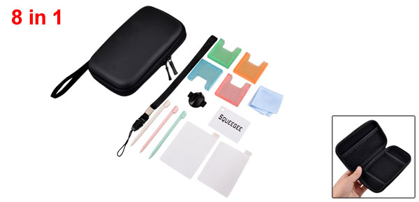 8 in 1 Wrist Straps Len Shield Carry Case Kit for NDSL DSi