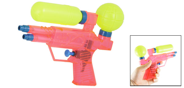 Children Play Pink Yellow Blue Plastic Water Pistol Squirt Gun Toy