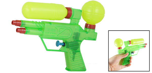 Kids Playing Toy Green Yellow Red Plastic Water Pistol Squirt Gun