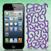 Purple Hollow Palace Flower Pattern Hard Back Cover Case for iPho...
