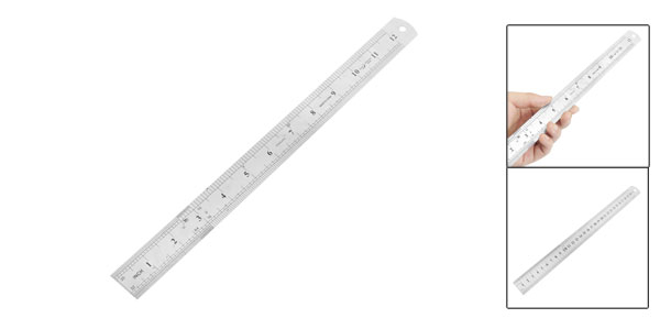 Office 30cm 12-inch Measuring Range Straight Ruler Measurement Tool