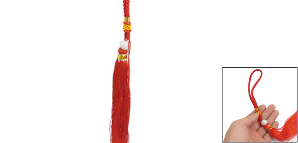Red Braided Rope Oriental Chinese Knot Tassel Fringes 13