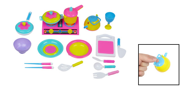 Assorted Color Plate Pot Cooker Pan Kitchenware Toy for Children