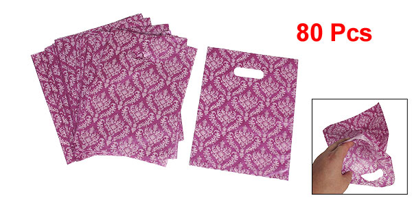 Magenta Geometric Printed Birthday Festival Gift Pouch Bags 80 Pcs