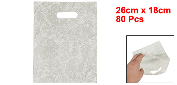 Light Gray Lace Pattern Valentine Gift Packaging Bags 80 Pcs