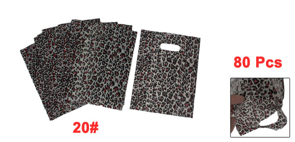 Black Beige Leopard Pattern Festival Gift Packaging Bags 80 Pcs