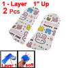 Blue Silicone Shoes Heel Lift Pads Rabbit Print Bottom Height Ins...