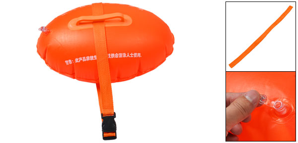 Swimmers Orange PVC Swimming Floating Bag w Waist Band