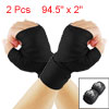 Hook Loop Fastener Black Cotten Boxing Hand Wraps Bandages Pair