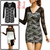 Ladies White V Neck Flower Embroidery Pullover Autumn Sexy Mini D...