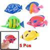 5 Pcs Fish Tank Swing Tail Colors Manmade Tropical Fish Taml Deco...