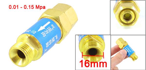 M/F 16/16mm Threaded Dry Flashback Arrestor Valve Adapter Regulator Fitting