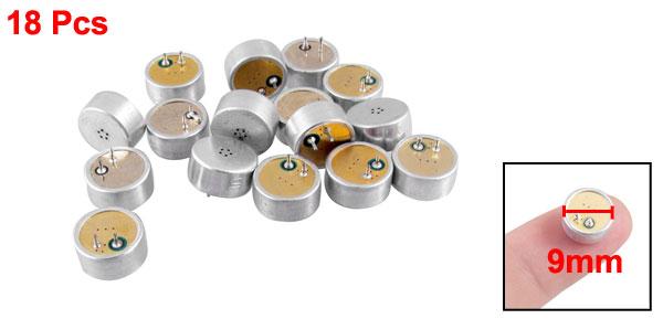 18 Pcs 9mm Diameter Electret Condenser Microphone MIC Capsule