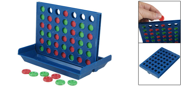 Blue Play Board Red Green Round Piece 2 Players 4 In A Line Strategy Chess Game