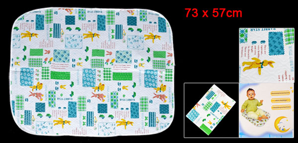 Baby Travel Home Cartoon Rabbit Pattern Waterproof Changing Mat Pad Colorful