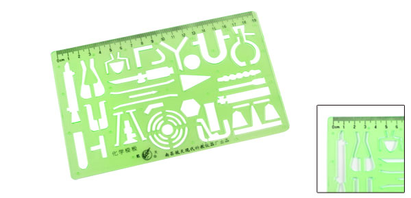 Plastic Rectangle Shaped Study Graffiti Stencil Template Ruler Scale for