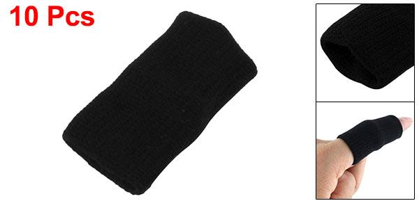 Black Sports Basketball Fitness Neoprene Finger Cover 10 Pcs