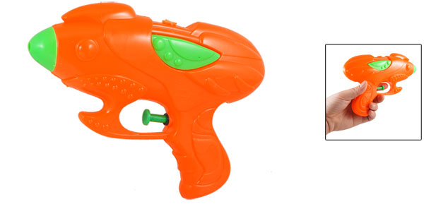 Plastic Water Spray Gun Toy Orange Red Green for Children