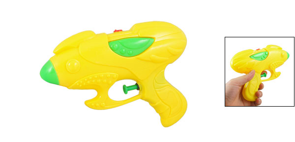 Yellow Green Plastic Water Squirt Gun Toy for Children Kids