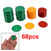 Red Orange Green Round Shaped Mini Poker Chips Lucky Game Props 6...