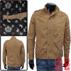 Mens Khaki Long Sleeve Korea New Fashion Zippered ...