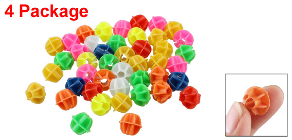 14mm Dia Colorful Plastic Bike Bicycle Spoke Beads Decor 4 Package