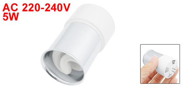 AC 220-240V 5W Fluorescent Lamp Energy Saving Light Bulb White
