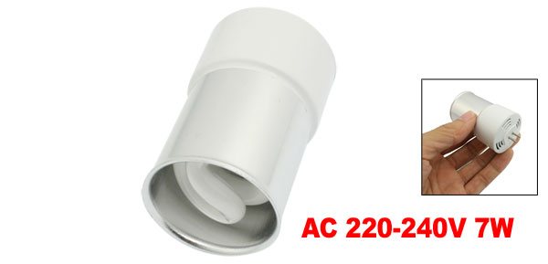 AC 220-240V 7W Fluorescent Lamp Energy Saving Light Bulb Yellow