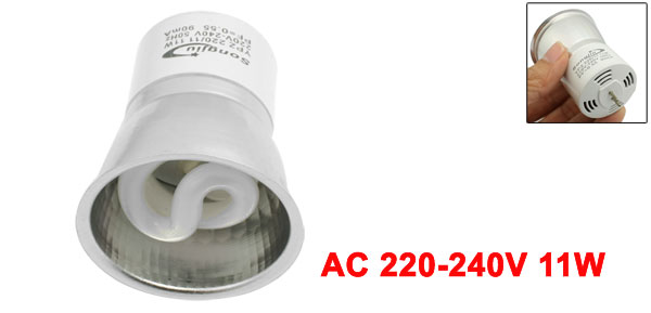 AC 220-240V 11W Fluorescent Lamp Energy Saving Light Bulb Yellow