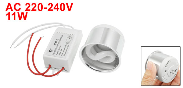 AC 220-240V 11W Fluorescent Lamp Energy Saving Light White w Ballast