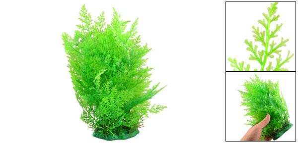 Green Plastic Grass Ornament for Fish Tank Aquarium 8.6