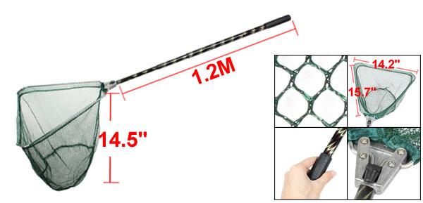 1.2M 3 Section Handle Triangle Frame Green Dipnet Fishing Landing Net