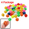 14mm Dia Colorful Plastic Bike Bicycle Spoke Beads Decor 4 Packag...