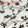 DIY Flowers Pattern Furniture Wall Decal Wallpaper Sticker Black White