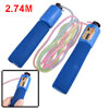 9ft Length Blue Foam Coated Grip Digital Counter Jumping Skipping Rope