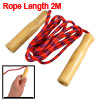 Fitting Fitness Nonslip Handle Red Blue Black Jumping Skipping Rope 2M