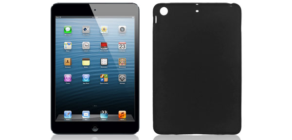 Black Soft Silicone Skin Case Cover Protector for Apple iPad Mini
